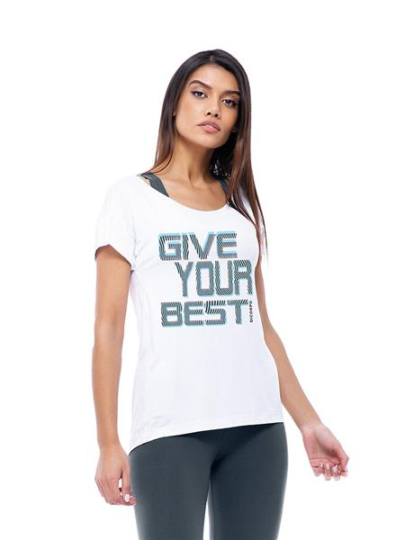 CAMISETA DICORPO COM MULLET E SERIGRAFIA | ESTAMPA GIVE YOUR BEST